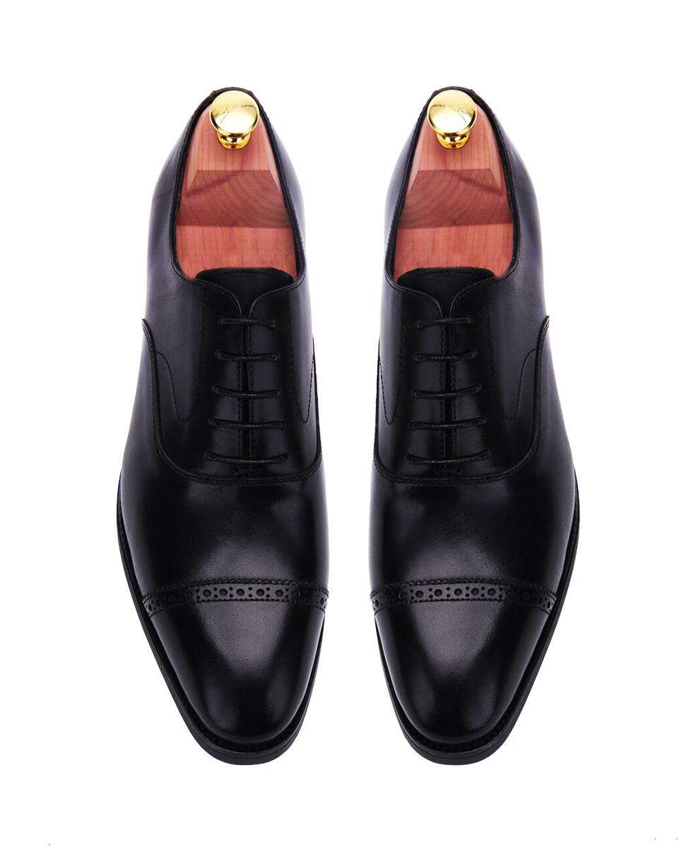 Burgundy Brown Captoe Brogues Oxford
