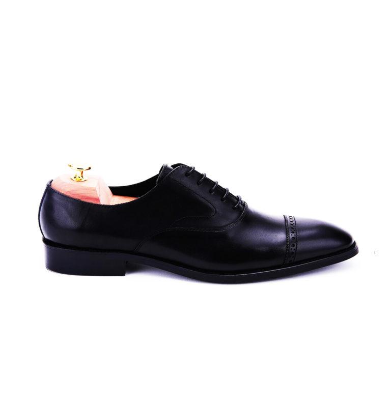Black Captoe Brogue Oxford