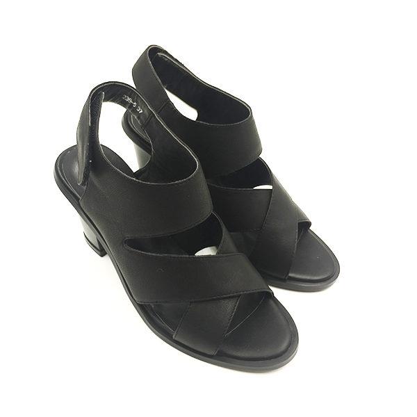 black sandal block heel