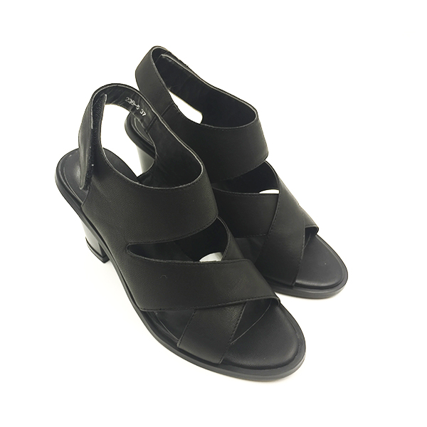 black sandal block heel