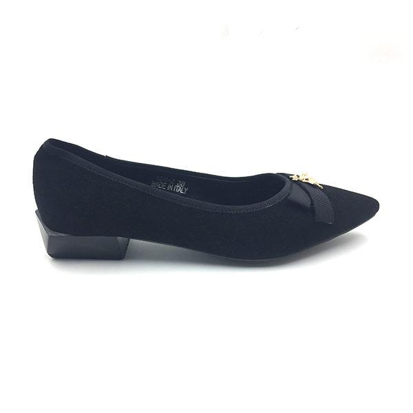 black-suede-block-heels-flat
