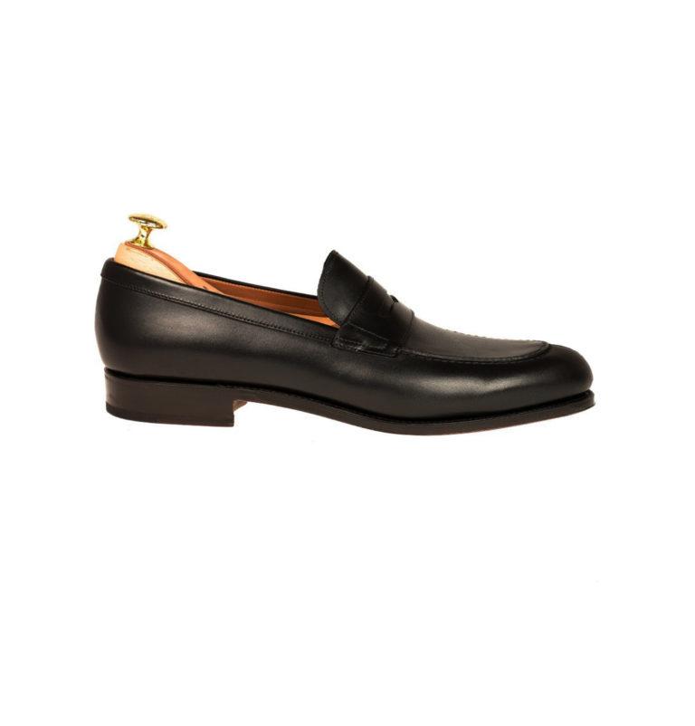 Black Penny Loafers Slip On