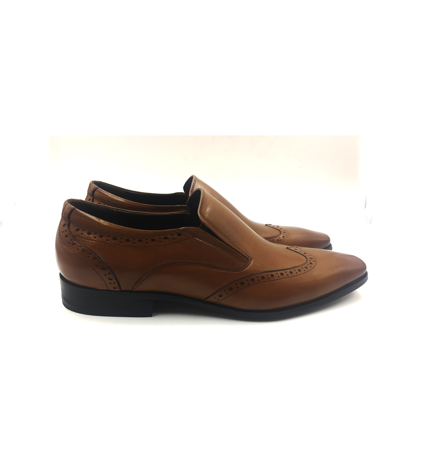 Brown Wingtip Slip On