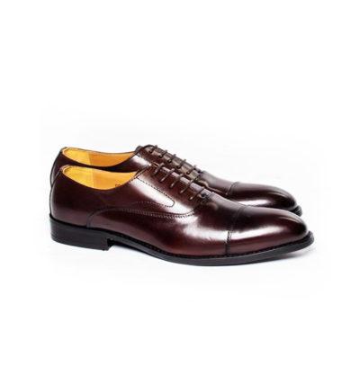 Burgundy Brown Captoe Oxford