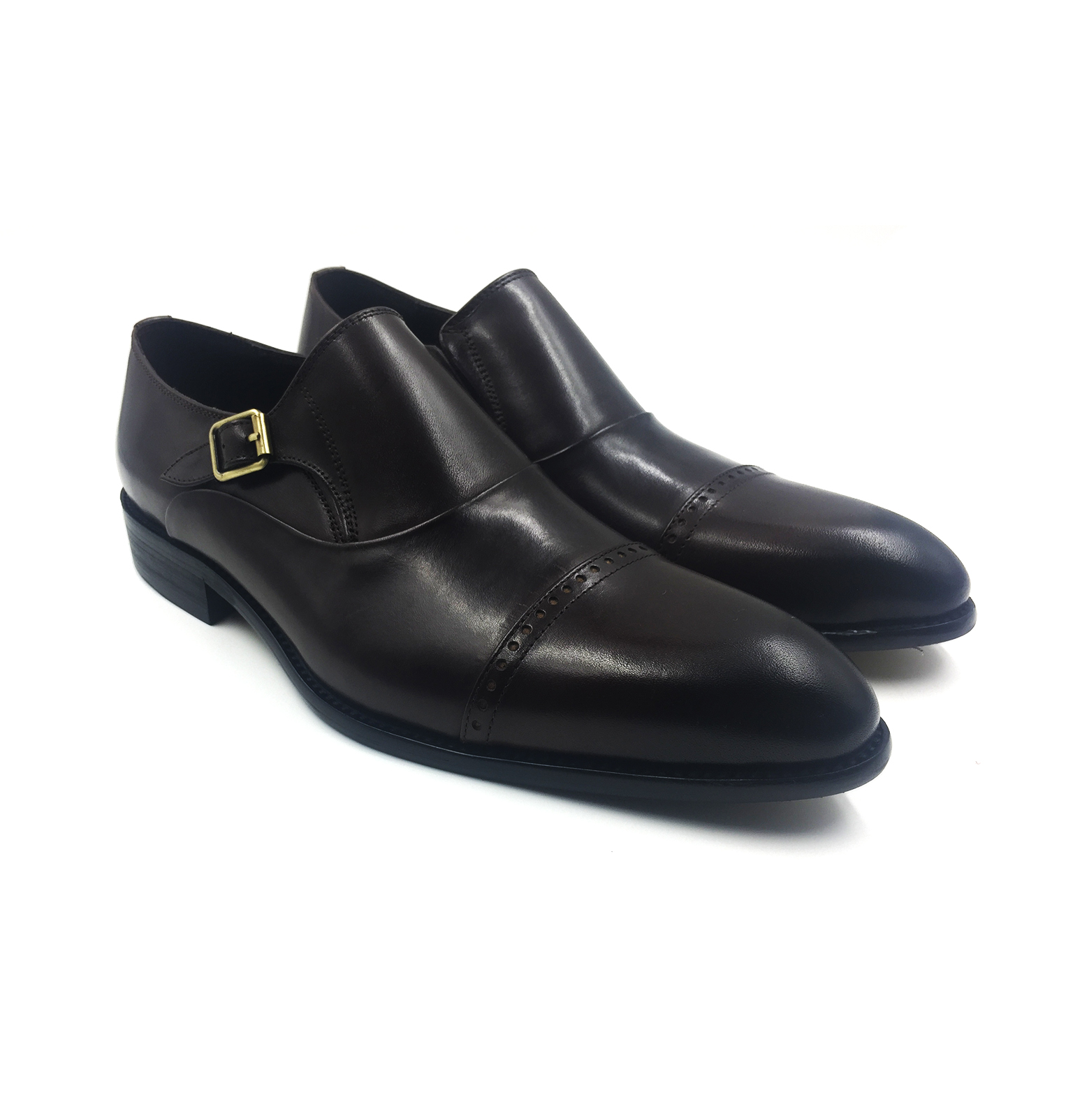 Black Captoe Double Monkstrap