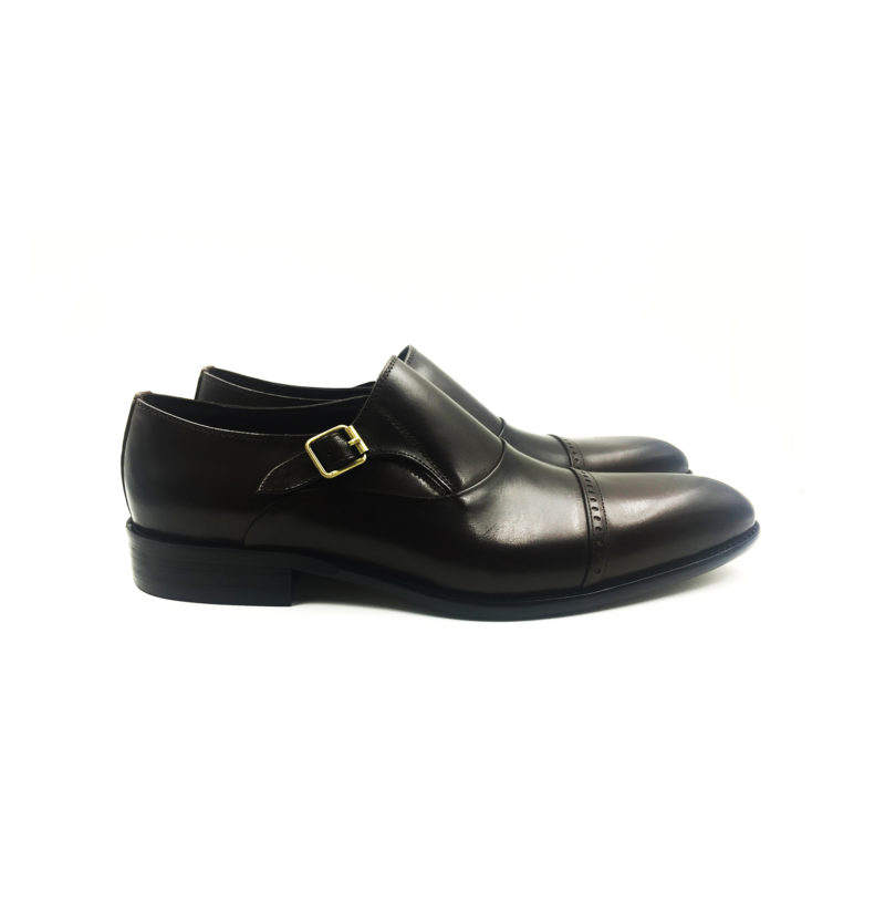 Coffee Brown Captoe Monkstrap