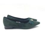 green-suede-block-heels-flat